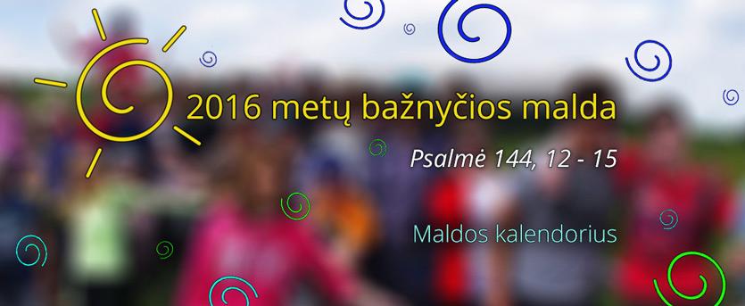 Šių metų bažnyčios malda