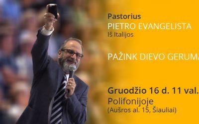 Nauja pažintis su pastoriumi Pietro Evangelista