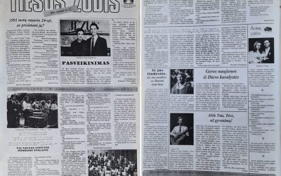 """Laikraštis """"TIESOS ŽODIS"""", leidyba 1992 – 1993 m."""