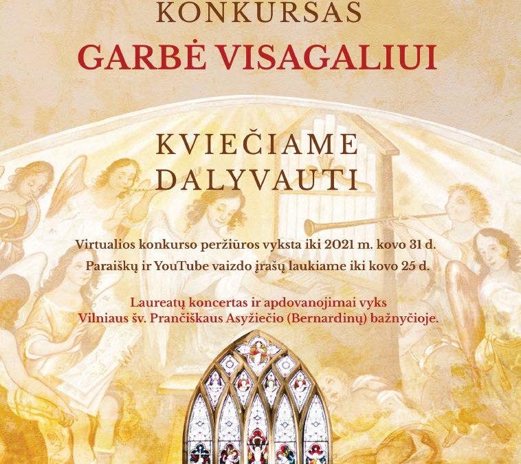 Pirmasis krikščioniškos sakralinės muzikos KONKURSAS
